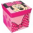 Taburet si cutie depozitare jucarii Minnie Bowtique
