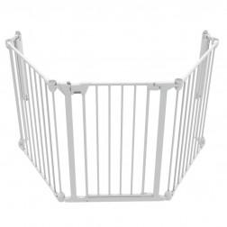 Tarc de siguranta modular cu 3 panouri, metal alb, Noma N94054
