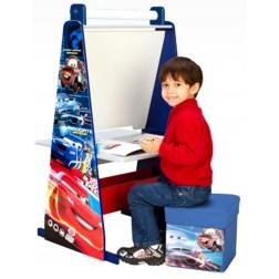 Set 3 in 1 sevalet si birou cu taburet Disney Cars