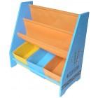 Organizator carti si jucarii cu cadru din lemn Blue Crayon - Style