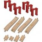 Chuggington Lemn - Set sine cu piloni 14 piese