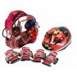 Set accesorii protectie pentru bicicleta role trotineta Saica 5822 Ladybug Buburuza Miraculoasa