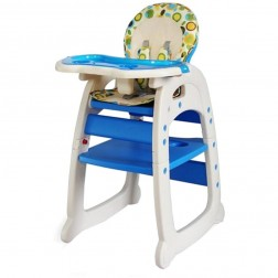 Scaun de masa multifunctional Baby Place Mamakids - Albastru
