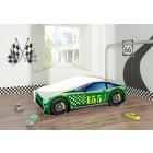 Pat Tineret Race Car 04 Green 140x70 - MyKids