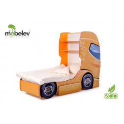 Pat camion tineret MyKids DUO SCANIA+1 Verde