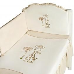 Set lenjerie 5 piese Girafa 100x135 - Crem