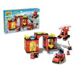Set constructie Unico Plus Set statie Pompieri