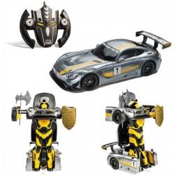 Masinuta cu telecomanda 2 in 1 robot Mercedes AMG GT3 Gri - Mondo