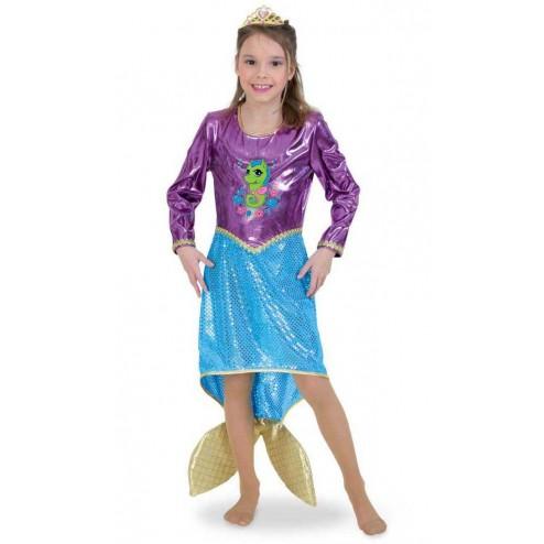 Costum pentru serbare Sirena Deluxe 128 cm