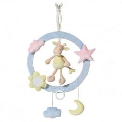 Inel muzical decorativ Girafa - Brevi Soft Toys