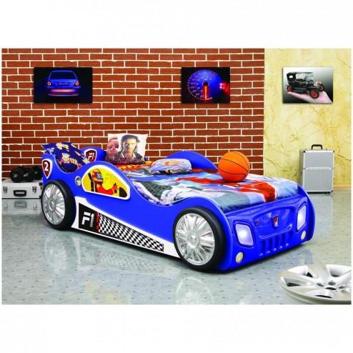 Patut in forma de masina Monza Albastru - Plastiko