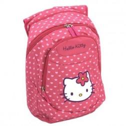 Ghiozdan gimnaziu Hello Kitty roz oval Pigna si minge cadou
