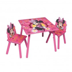 Masuta si 2 scaunele Minnie Mouse Simply Charming