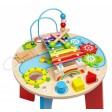 Masuta si centru activitati bebelusi Globo Legnoland 37111 din lemn cu sortator