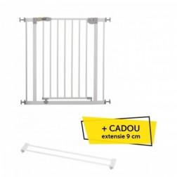 Poarta de Siguranta Openn Stop White + CADOU Extensie 9 cm White - Hauck