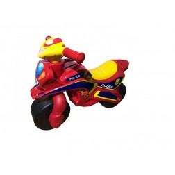 Motocicleta de impins MyKids Police Music Rosu cu Galben