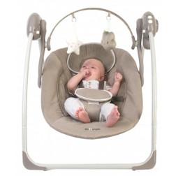 Leagan portabil BO Jungle Bej pentru bebelusi cu arcada jucarii