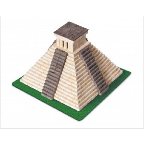 Kit constructie caramizi Wise Elk Piramida Mayasa 750 piese reutilizabile