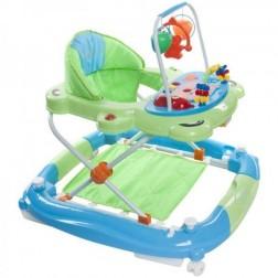 Premergator Pisicuta cu sistem de balansare - Sun Baby - Albastru cu Verde