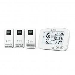 Termometru si higrometru digital cu 3 transmitatoare wireless externe Airbi TRIO