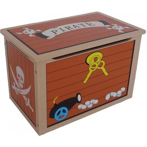 Ladita lemn pentru depozitare jucarii copii Brown Treasure Chest Style