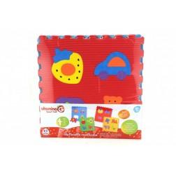 Puzzle burete pentru copii Globo Vitamina G Animale si alte figurine 4 bucati