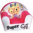 Fotoliu din burete pentru copii Super Cat Trade