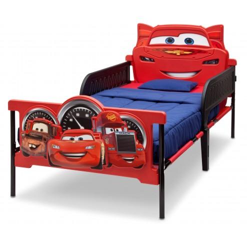 Pat cu cadru metalic Twin Disney Cars