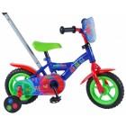 Bicicleta pentru baieti 10 inch, cu maner, roti ajutatoare, PJ Masks - Volare