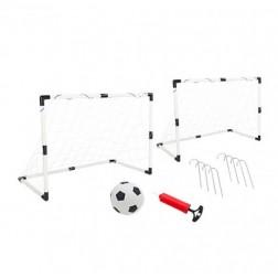 Set copii 2 porti de fotbal din plastic pentru copii WToy cu minge si pompa inclusa - Globo