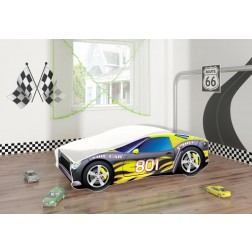 Pat Tineret Race Car 06 Black 160x80 - MyKids