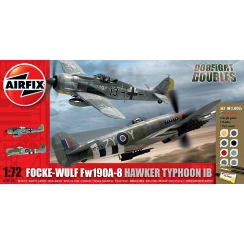 Airfix Set 2 avioane Focke Wulf Fw190A-8 si Hawker Typhoon Ib scara 1:72