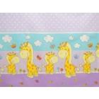 Lenjerie MyKids Happy Giraffe Mov 4+1 Piese 120x60 cm