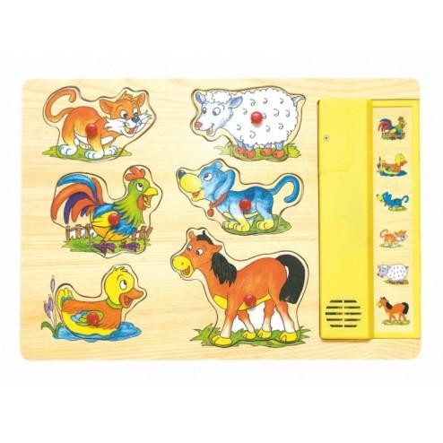 Puzzle sunetele animalelor, Woodyland