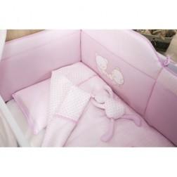Lenjerie Patut Bebe 6 Piese Teddy Roz