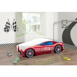 Pat Tineret Race Car 01 Red 140x70 - MyKids
