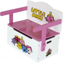 Mobilier 2 in 1 pentru depozitare jucarii Little Miss