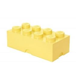 Cutie depozitare LEGO 2x4 galben deschis