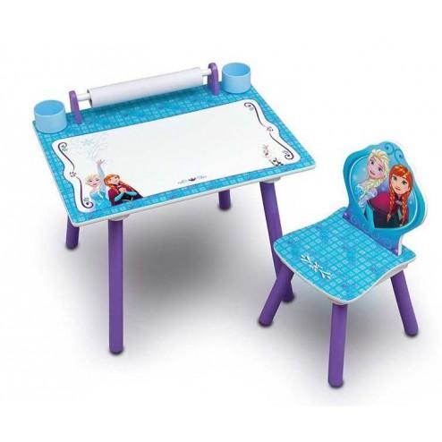 Set masuta pentru creatie si 1 scaunel Frozen