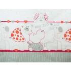 Lenjerie MyKids My Zoo Rosu 4+1 Piese 120x60 cm