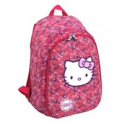 Ghiozdan clasele I-IV Hello Kitty roz oval Pigna si minge cadou