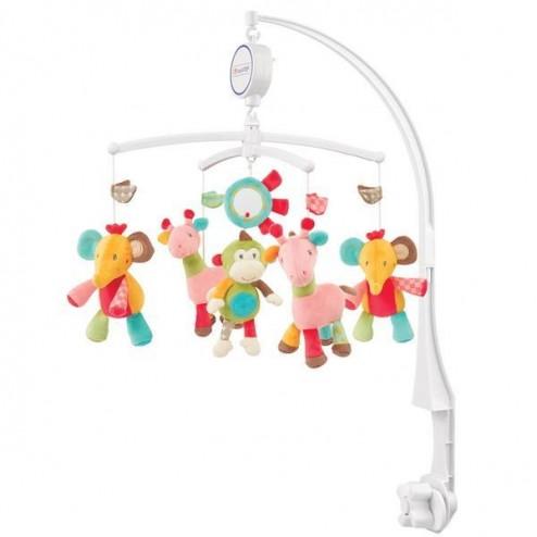Carusel Muzical Girafa, elefant, maimuta, soare - Safari - Brevi Soft Toys