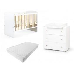 Mobilier pentru camera copiilor si bebelusilor Karolina Alb Natur, Klups
