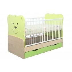 Patut Transformabil MyKids Teddy Verde Cu Leg 8099