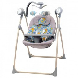 Leagan Electric Copii Cu Muzica SW102RC Dino Baby Mix