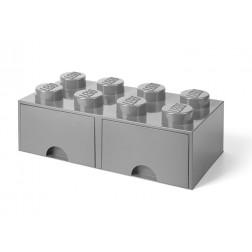 Cutie depozitare LEGO 2x4 cu sertare, gri (40061740)
