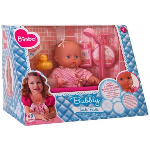 Papusa bebe cu cadita si accesorii