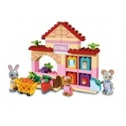 Set constructie cuburi Maximilian Families Supermarket 60 piese - Unico