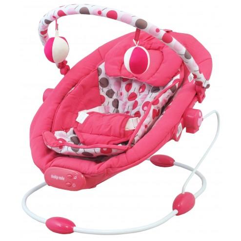 Leagan muzical cu vibratii Grand Confort - roz