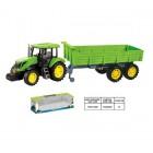 Tractor cu remorca culoarea verde